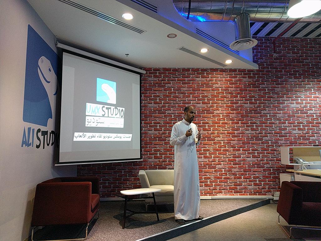 At UMX Studio a Saudi Game development company. GameDev 101 Talk