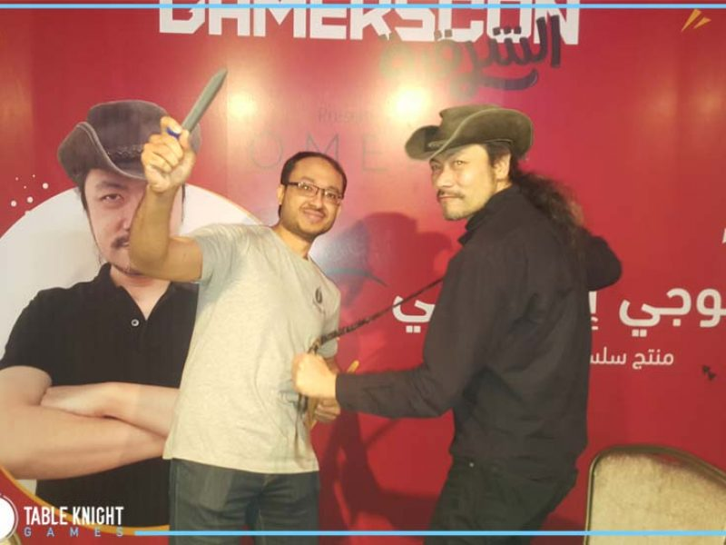 With Koji Igarashi maker of Castlevania at Gamers Con 2018