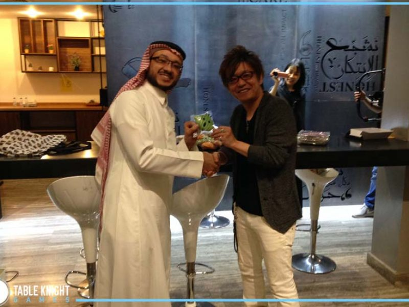Table Knight Games in Manga Productions Event With Square Enix Final Fantasy 14 Director Naoki Yoshida